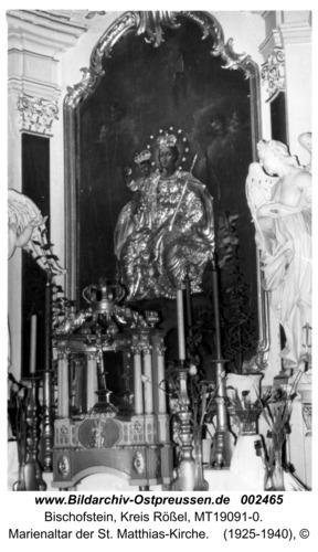 Bischofstein, Marienaltar der St. Matthias-Kirche