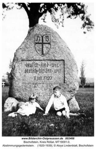 Bischofstein, Abstimmungsgedenkstein