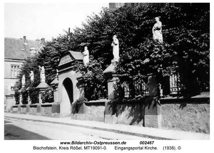 Bischofstein, Eingangsportal Kirche
