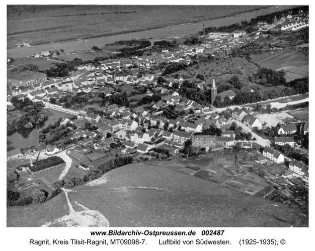 Ragnit, Luftbild von Südwesten
