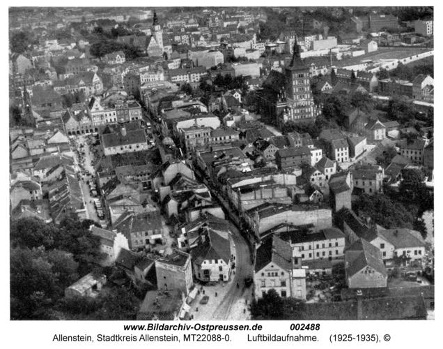Allenstein, Luftbildaufnahme