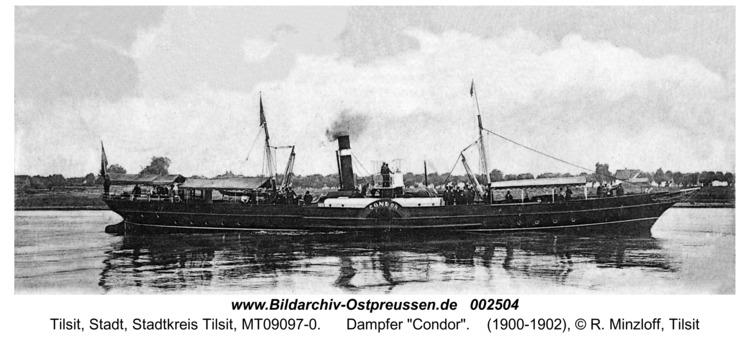 """Tilsit, Dampfer """"Condor"""""""
