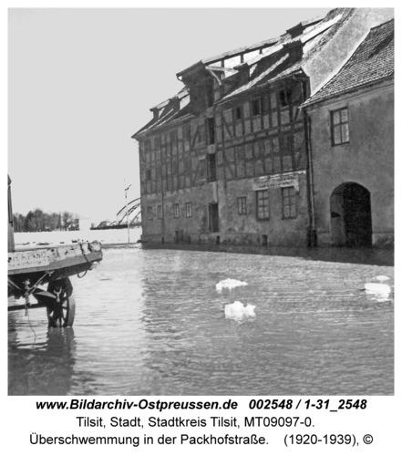 Tilsit, Überschwemmung in der Packhofstraße