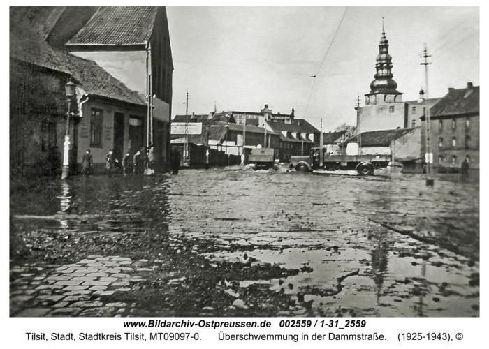 Tilsit, Überschwemmung in der Dammstraße