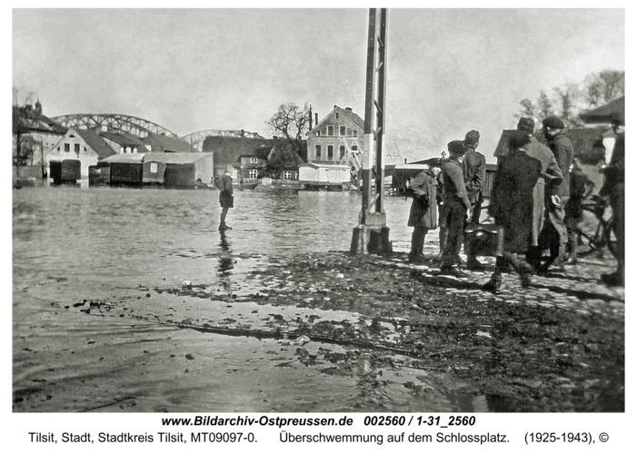 Tilsit, Überschwemmung auf dem Schlossplatz