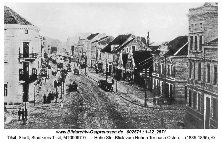 Tilsit, Hohe Str., Blick vom Hohen Tor nach Osten