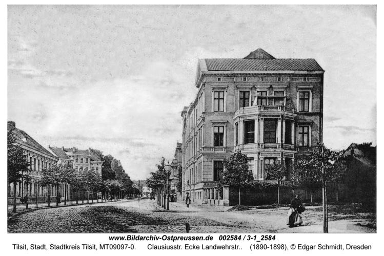 Tilsit, Clausiusstr. Ecke Landwehrstr.