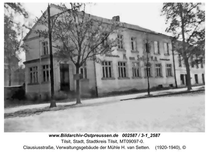 Tilsit, Clausiusstr., Verwaltungsgebäude der Mühle H. van Setten