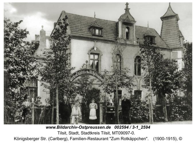 "Tilsit, Königsberger Str. (Carlberg), Familien-Restaurant ""Zum Rotkäppchen"""