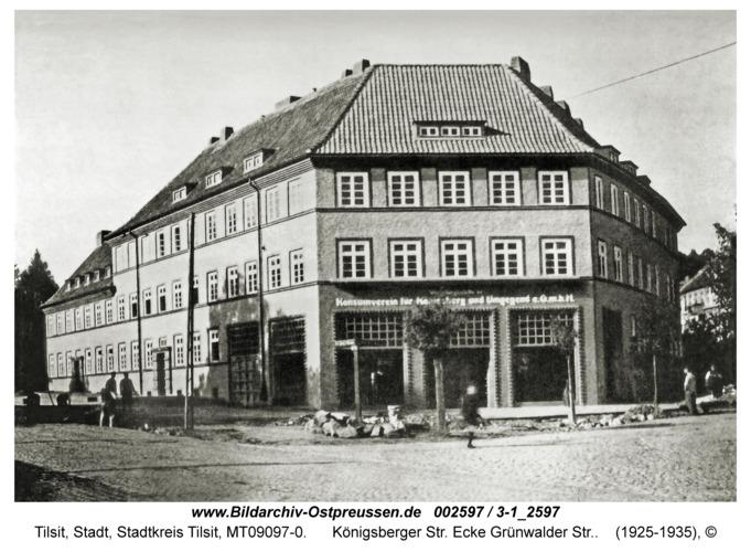 Tilsit, Königsberger Str. Ecke Grünwalder Str.