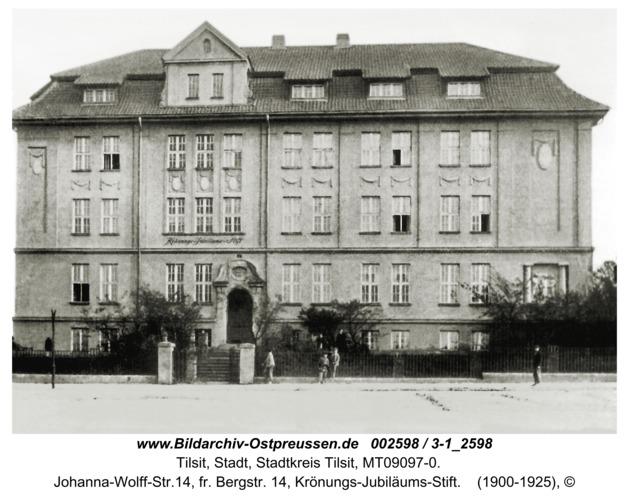 Tilsit, Johanna-Wolff-Str.14, fr. Bergstr. 14, Krönungs-Jubiläums-Stift