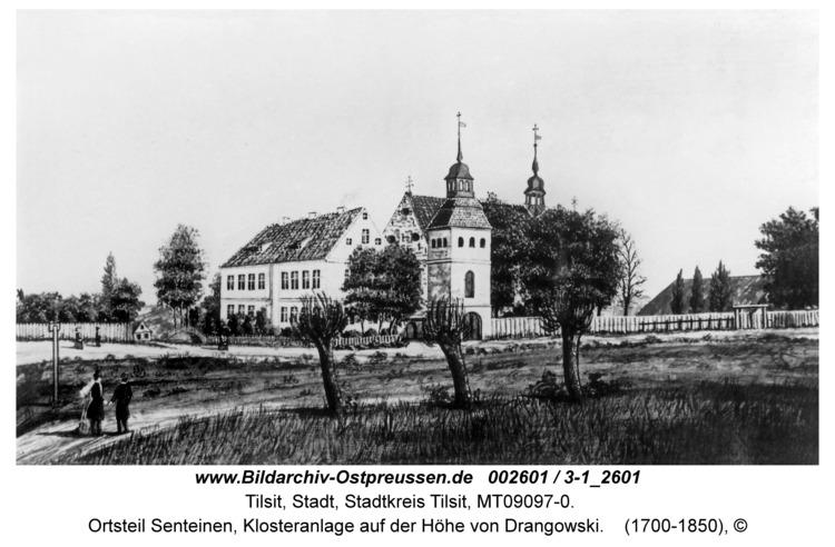 Tilsit, Ortsteil Senteinen, Klosteranlage auf der Höhe von Drangowski