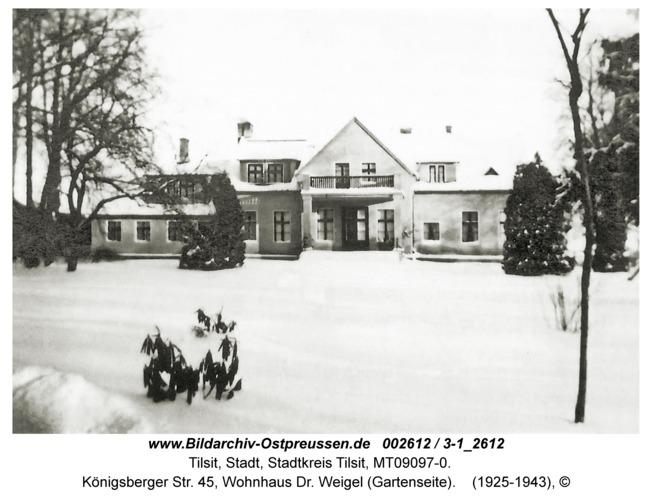 Tilsit, Königsberger Str. 45, Wohnhaus Dr. Weigel (Gartenseite)