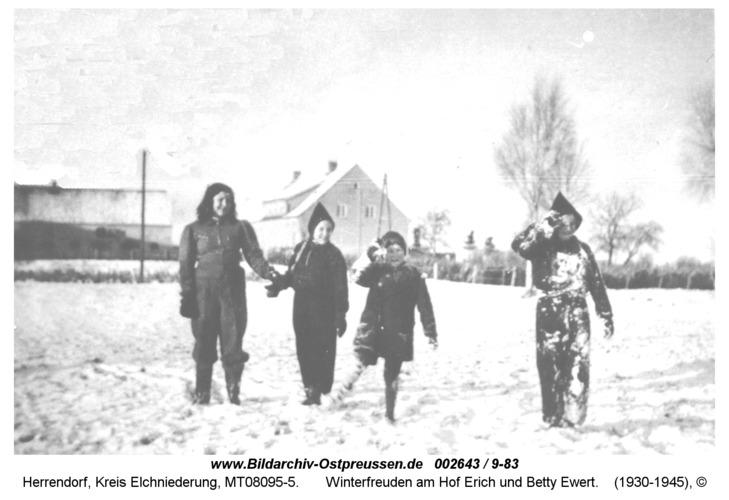 Herrendorf, Winterfreuden am Hof Erich und Betty Ewert