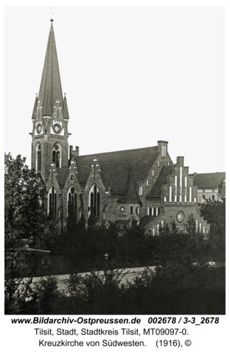 Tilsit, Kreuzkirche von Südwesten