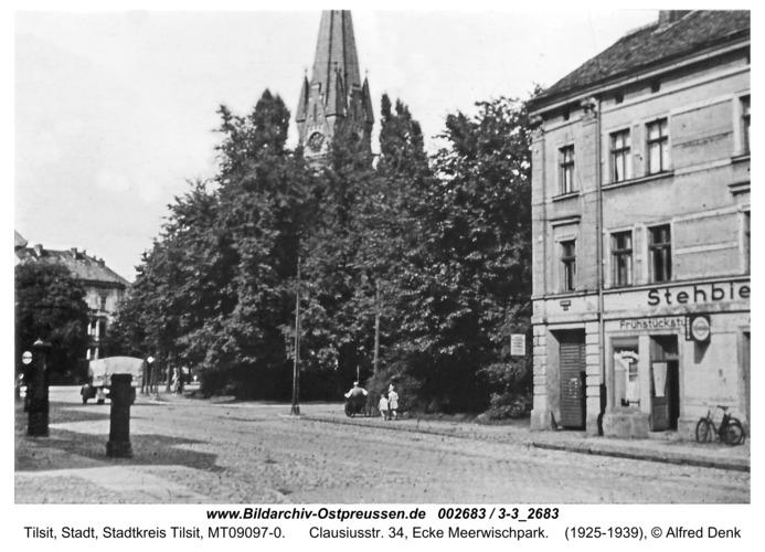 Tilsit, Clausiusstr. 34, Ecke Meerwischpark