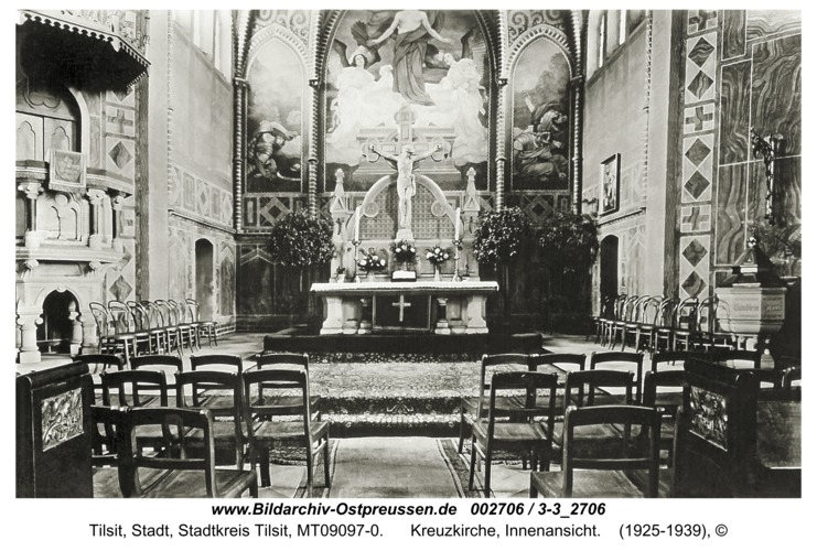 Tilsit, Kreuzkirche, Innenansicht