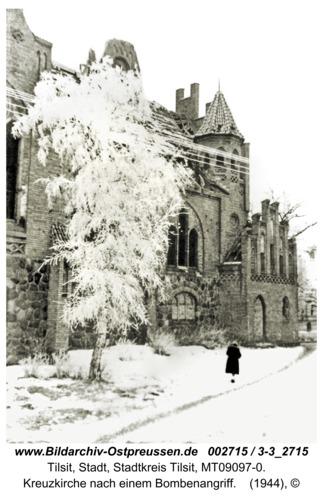 Tilsit, Kreuzkirche nach einem Bombenangriff