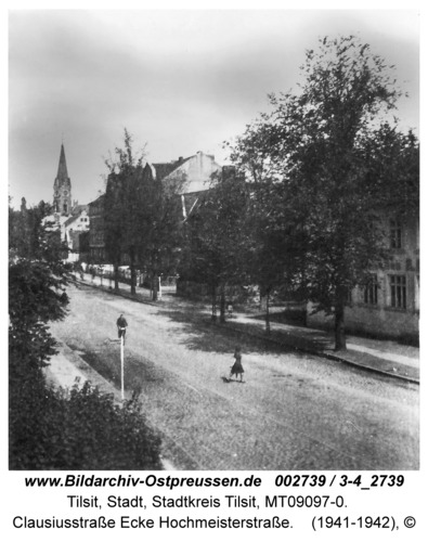 Tilsit, Clausiusstraße Ecke Hochmeisterstraße