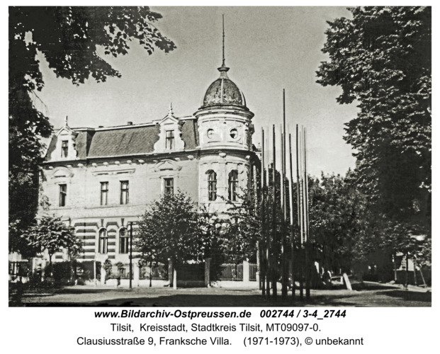 Tilsit, Meerwischpark, Franksche Villa