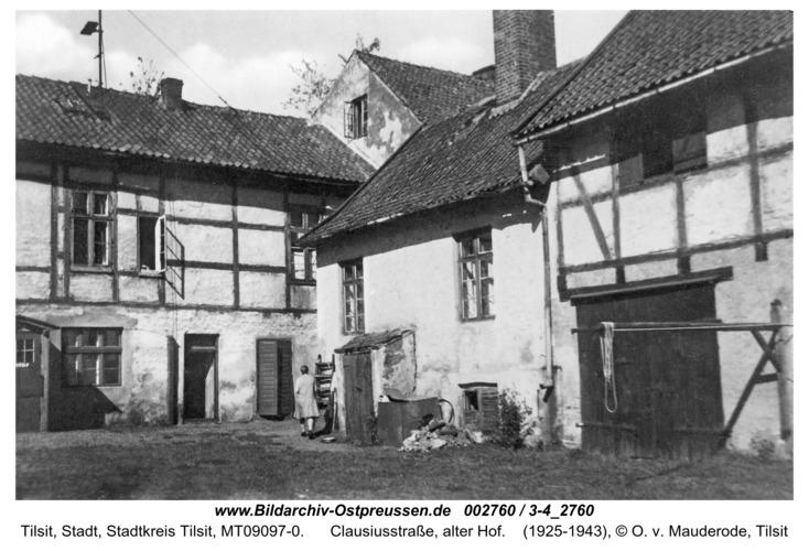 Tilsit, Clausiusstraße, alter Hof