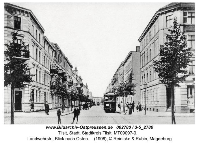 Tilsit, Landwehrstr., Blick nach Osten