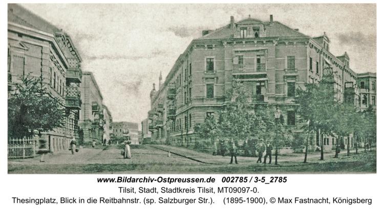 Tilsit, Thesingplatz, Blick in die Reitbahnstr. (sp. Salzburger Str.)