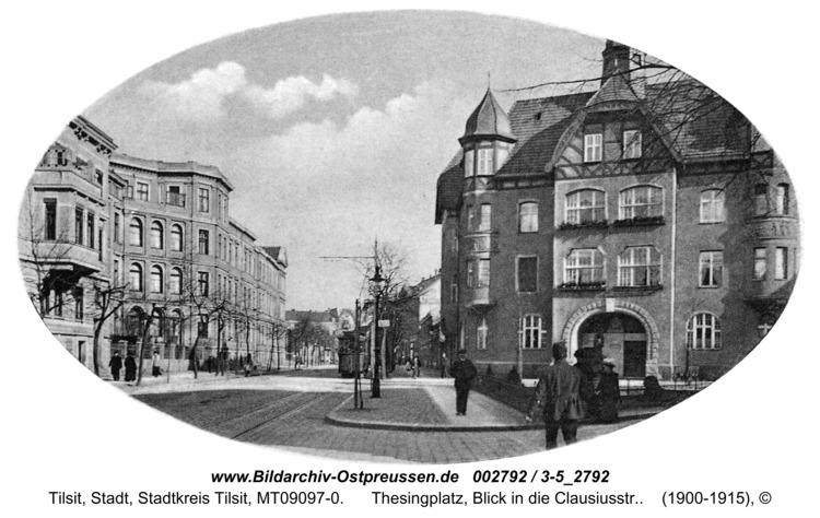 Tilsit, Thesingplatz, Blick in die Clausiusstr.