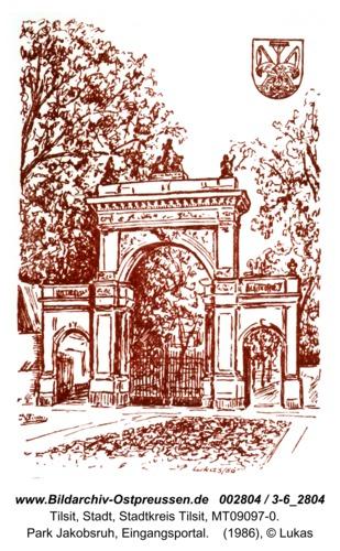 Tilsit, Park Jakobsruh, Eingangsportal