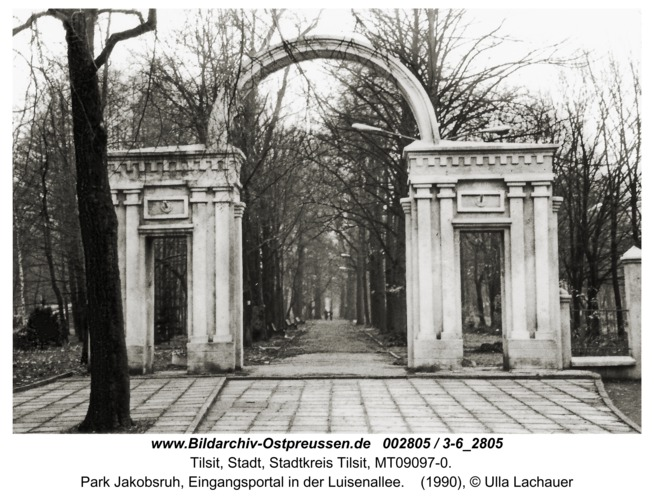 Tilsit, Park Jakobsruh, Eingangsportal in der Luisenallee