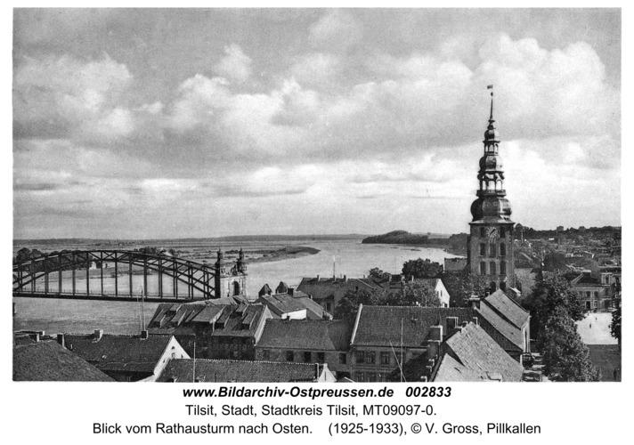 Tilsit, Blick vom Rathausturm nach Osten