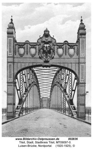 Tilsit, Luisen-Brücke, Nordportal