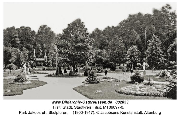 Tilsit, Park Jakobsruh, Skulpturen