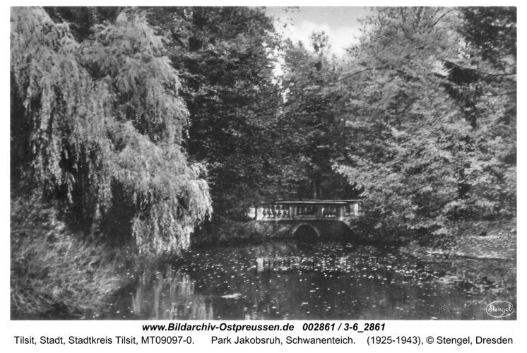 Tilsit, Park Jakobsruh, Schwanenteich