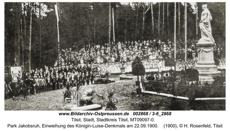 Tilsit, Park Jakobsruh, Einweihung des Königin-Luise-Denkmals am 22.09.1900