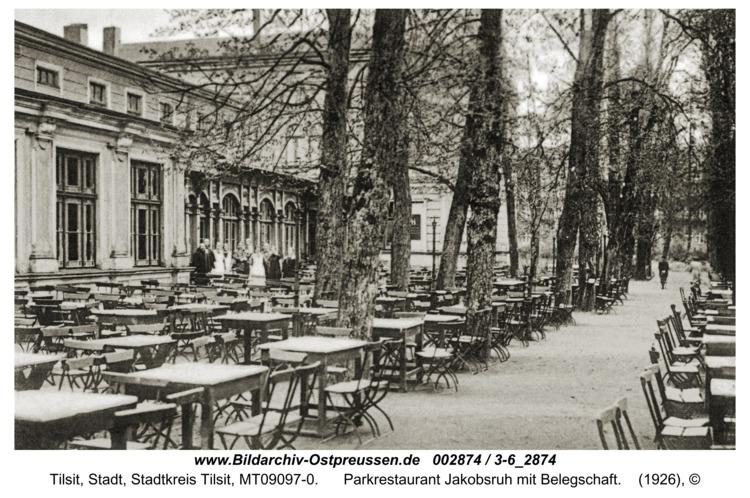 Tilsit, Parkrestaurant Jakobsruh mit Belegschaft