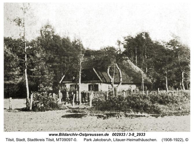 Tilsit, Park Jakobsruh, Litauer-Heimathäuschen