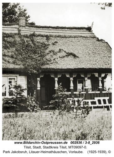 Tilsit, Park Jakobsruh, Litauer-Heimathäuschen, Vorlaube
