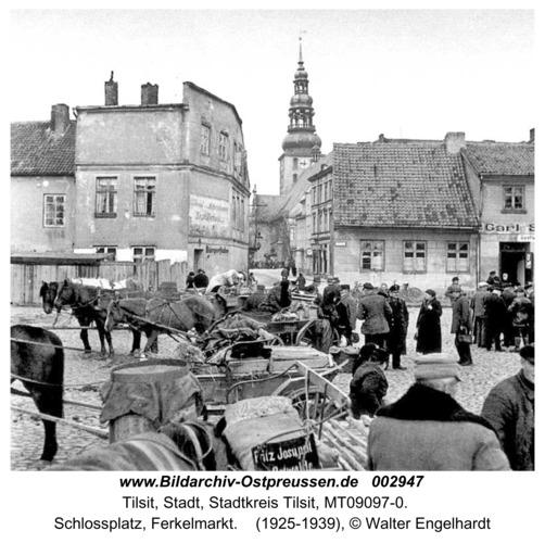 Tilsit, Schlossplatz, Ferkelmarkt