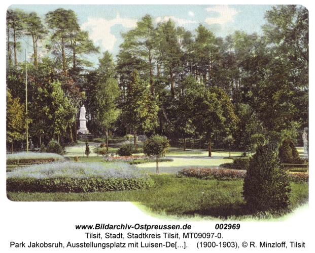 Tilsit, Park Jakobsruh, Ausstellungsplatz mit Königin-Luise-Denkmal