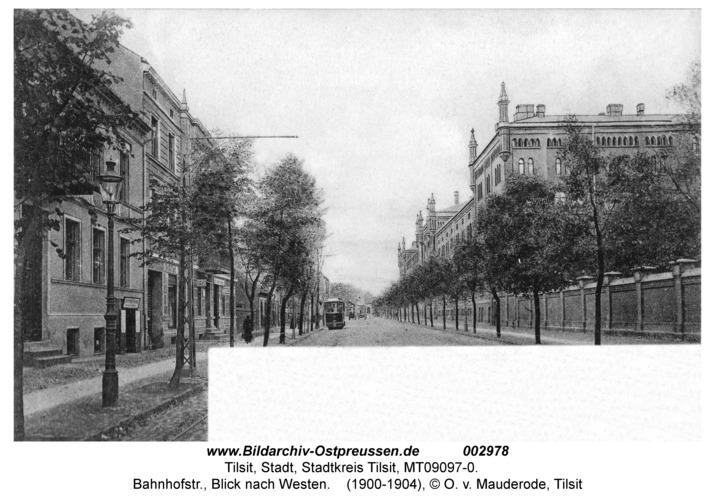 Tilsit, Bahnhofstr., Blick nach Westen
