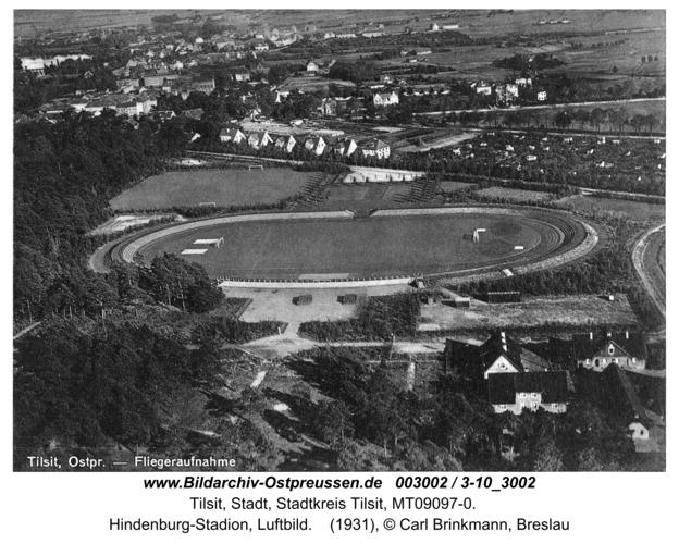 Tilsit, Hindenburg-Stadion, Luftbild
