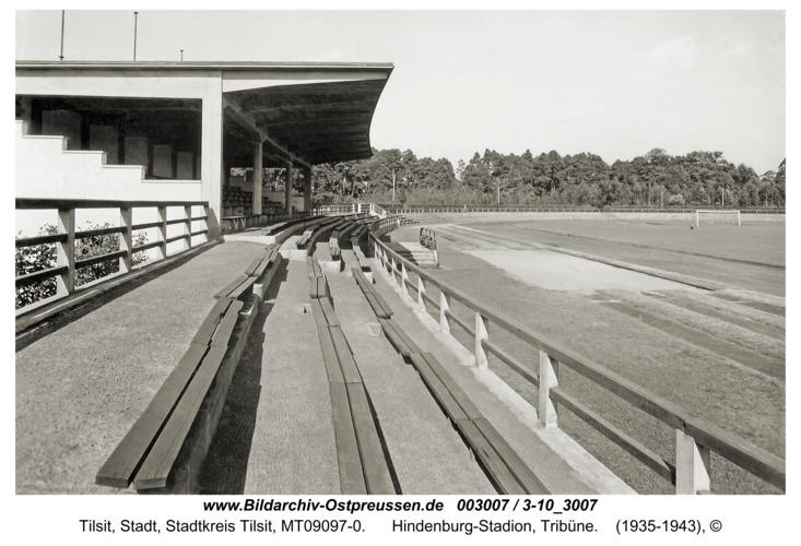 Tilsit, Hindenburg-Stadion, Tribüne