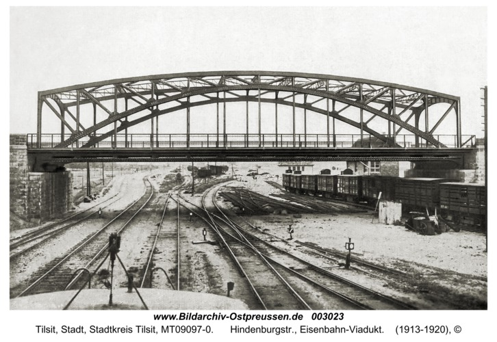 Tilsit, Hindenburgstr., Eisenbahn-Viadukt