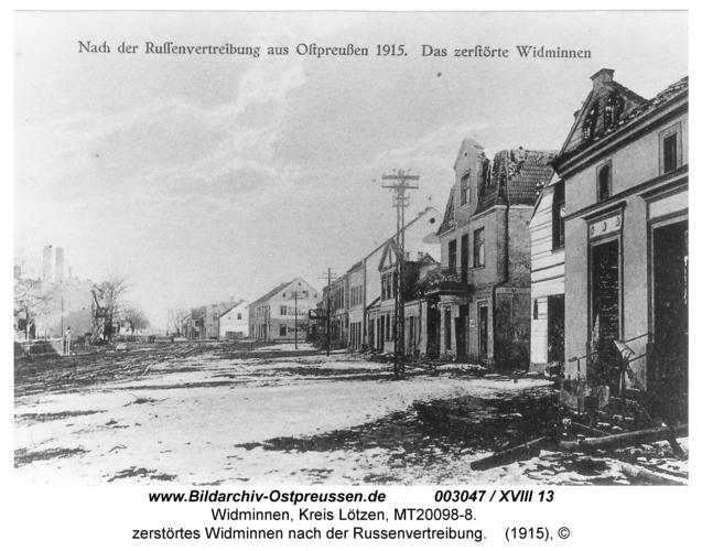 Widminnen, zerstörtes Widminnen nach der Russenvertreibung