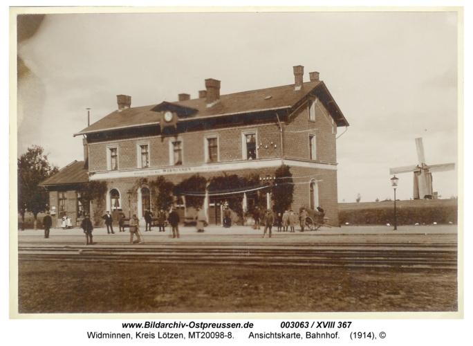 Widminnen, Ansichtskarte, Bahnhof