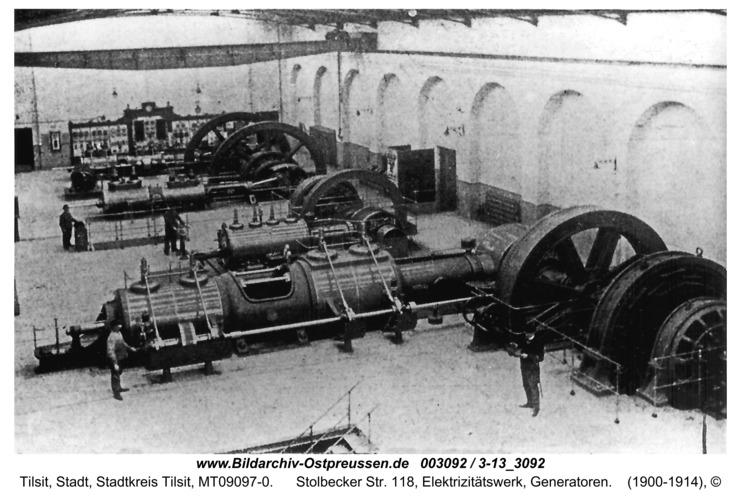 Tilsit, Stolbecker Str. 118, Elektrizitätswerk, Generatoren