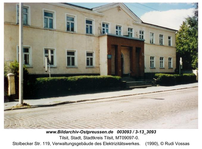Tilsit, Stolbecker Str. 119, Verwaltungsgebäude des Elektrizitätswerkes