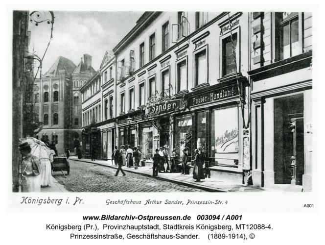 Königsberg, Geschäftshaus-Sander