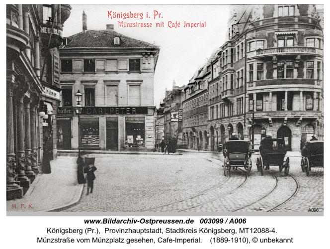 Königsberg, Münzstraße, Cafe-Imperial